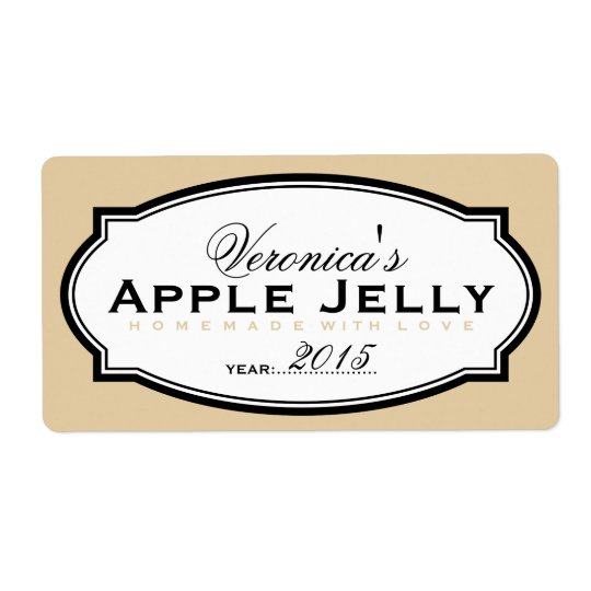 BEIGE | PERSONALIZED CANNING STICKER