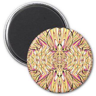 Beige Pink Fractal Magnet Magnet