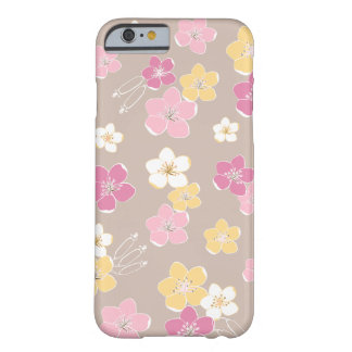 Beige pink hawaii exotic flowers feminine marries barely there iPhone 6 case