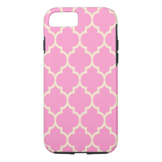 Beige & PinkGeometric Quatrefoil Pattern Pattern iPhone 7 Case