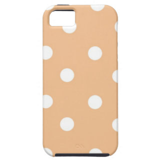 Beige polca dots iPhone 5 cases
