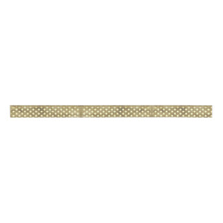 Beige Polka Dot and Tan Ribbon Grosgrain Ribbon