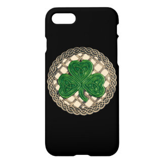 Beige Shamrock On Celtic Knots iPhone 7 Case