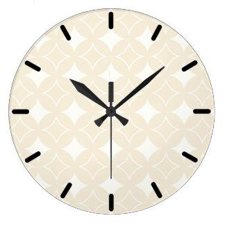 Beige shippo pattern clocks
