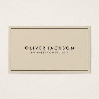 Beige simple avec le minimaliste noir de frontière cartes de visite