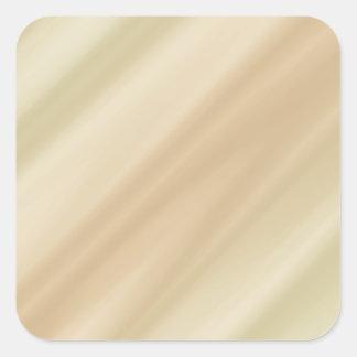 Beige simple square sticker