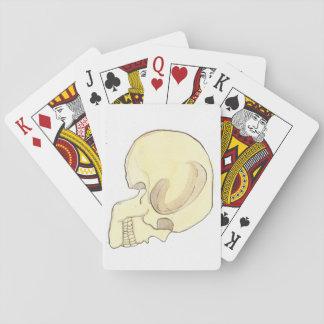 Beige Skull Playing Cards, Standard Poker Deck