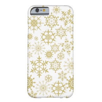 Beige Snowflakes Barely There iPhone 6 Case