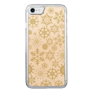 Beige Snowflakes Carved iPhone 7 Case