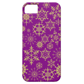 Beige Snowflakes iPhone 5 Cover