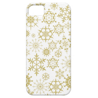 Beige Snowflakes iPhone 5 Covers