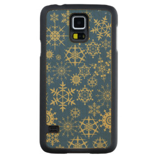Beige Snowflakes Maple Galaxy S5 Case
