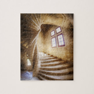 Beige spirl staircase, France Jigsaw Puzzle