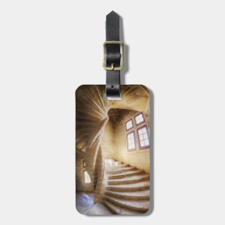 Beige spirl staircase, France Luggage Tag