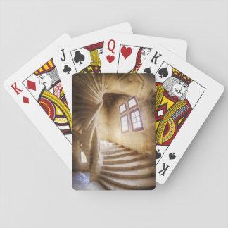 Beige spirl staircase, France Poker Deck
