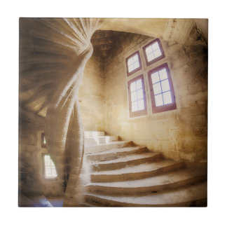 Beige spirl staircase, France Tile