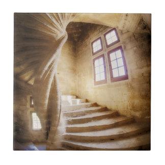 Beige spirl staircase, France Tiles