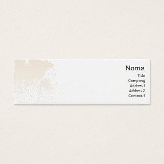 Beige Splatter - Skinny Mini Business Card