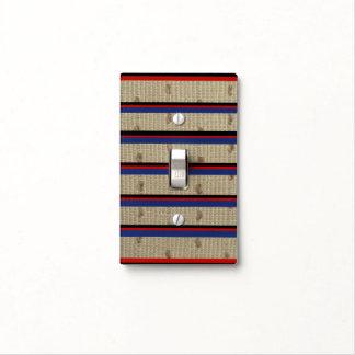 Beige Stripe Light Switch Cover