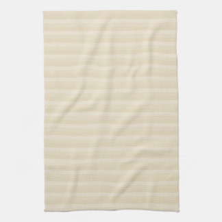 Beige Tan Color Stripe Pattern. Kitchen Towel