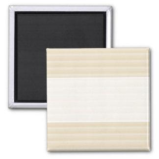 Beige Tan Color Stripe Pattern Magnet