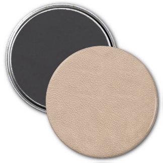 Beige Tan Leather Texture Fridge Magnet