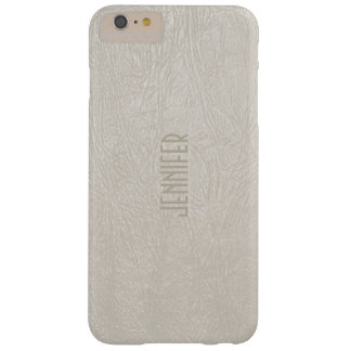 Beige Tones Faux Leather Look Barely There iPhone 6 Plus Case