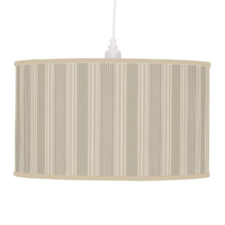 Beige Two Tone Striped Lamp