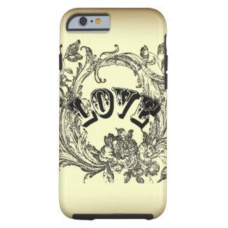 Beige Vintage Tattoo Love Paris Fashion Tough iPhone 6 Case