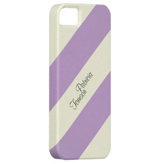 Beige & Violet Colour Combination. Custom Name SE iPhone 5 Covers