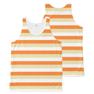 Beige, White and Orange Stripes