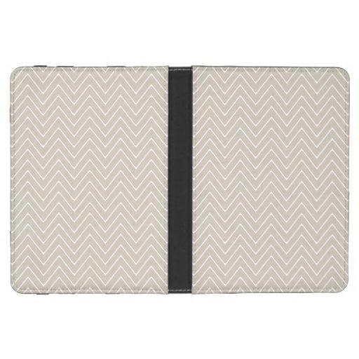 Beige White Chevron Pattern Kindle Case