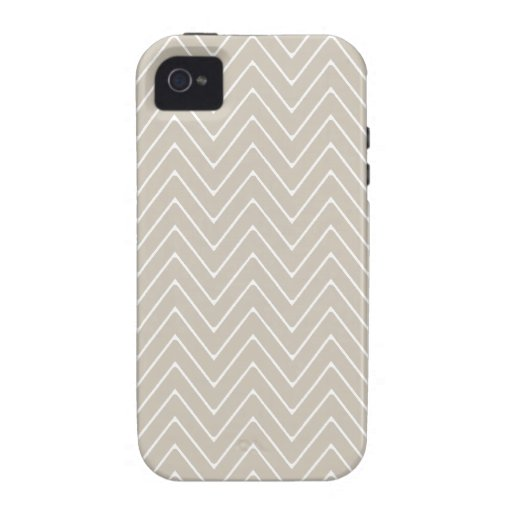 Beige White Chevron Pattern Vibe iPhone 4 Covers