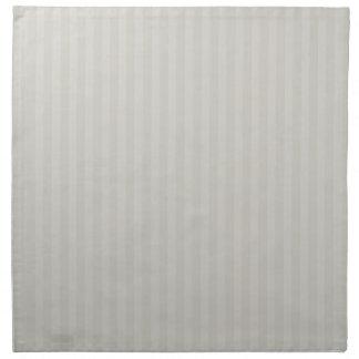 Beige Whites & stripes Cloth Napkins (5)