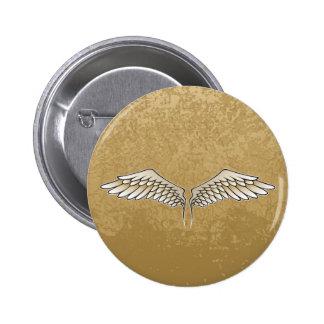 Beige wings 2 inch round button