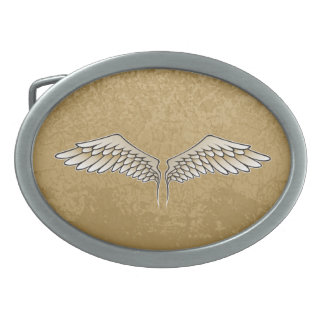 Beige wings belt buckles