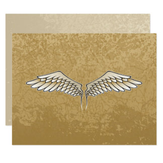 Beige wings card
