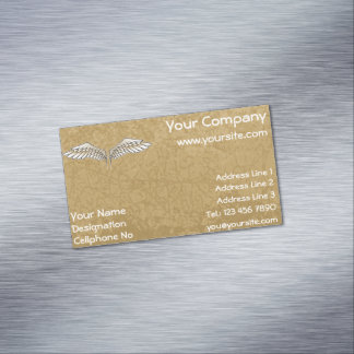 Beige wings magnetic business card