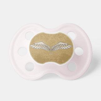 Beige wings pacifier