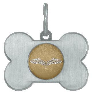 Beige wings pet ID tag