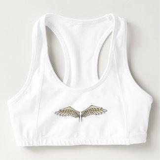 Beige wings sports bra