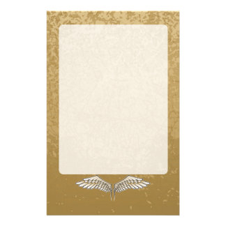Beige wings stationery design