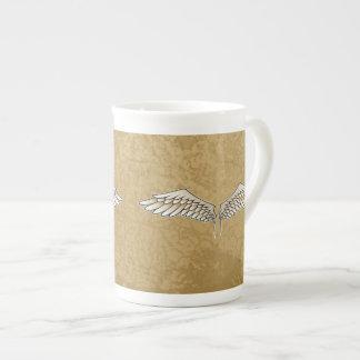 Beige wings tea cup