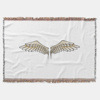 Beige wings throw blanket