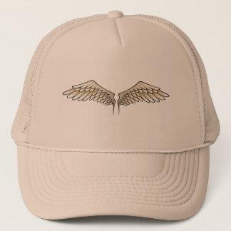 Beige wings trucker hat