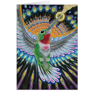 "Beija Flor (""Flower Kisser"") Hummingbird Painting Card"