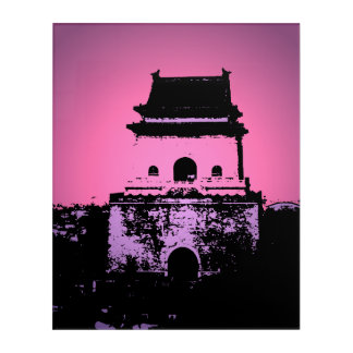 Beijing Bell Tower Acrylic Wall Art