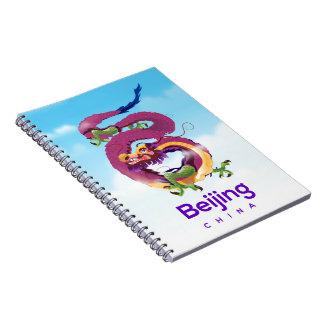 Beijing China Dragon travel poster Notebooks