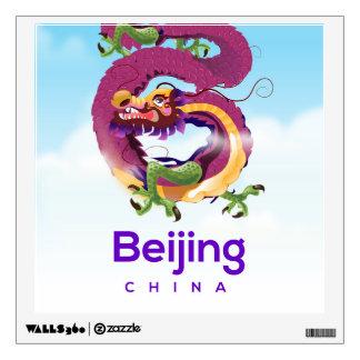 Beijing China Dragon travel poster Wall Sticker