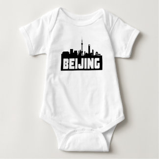 Beijing China Skyline Baby Bodysuit